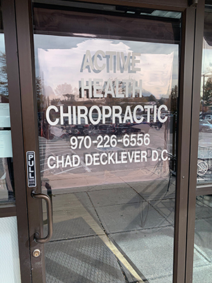 Chiropractic Fort Collins CO Active Health Chiropractic Front Door