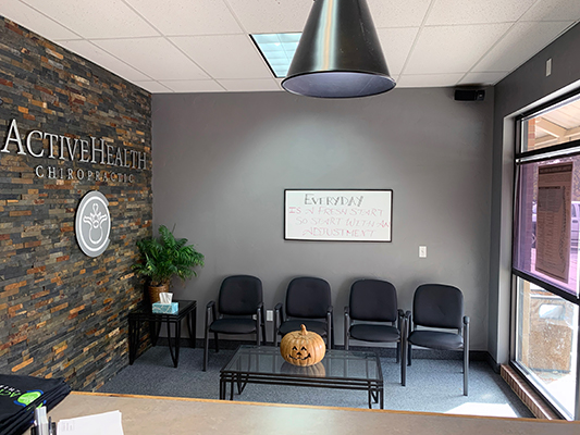 Chiropractic Fort Collins CO Active Health Chiropractic Wide View of Waiting Room